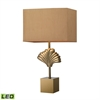 "27"" Vergato Solid Brass LED Table Lamp in Aged Brass"