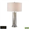 Trump Home Enroscado Coiled LED Table Lamp in Polished Chrome