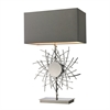 "31"" Cesano Abstract Formed Metalwork Table Lamp in Polished Nickel"