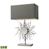 "31"" Cesano Abstract Formed Metalwork LED Table Lamp in Polished Nickel"