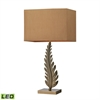 "Dimond 27"" Oak Cliff Solid Brass LED Table Lamp in Aged Brass"