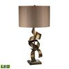 "Dimond 29"" Allen Metal Sculpture LED Table Lamp in Roxford Gold"
