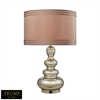 "Dimond TRUMP HOME 25"" Tappan Glass Table Lamp in Antique Mercury"