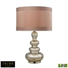 "TRUMP HOME 25"" Tappan Glass LED Table Lamp in Antique Mercury"