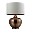 "Dimond 30"" Oversized Glass Table Lamp in Bronze"