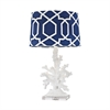 Trunk Bay 1 Light Table Lamp In Gloss White
