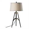 "Dimond 30"" Functional Tripod Table Lamp in Restoration Black and Aged Gold"