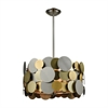 Dimond Lighting Prizzi Pendant Pewter,Gold,Antique Brass