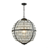 Skorpius Chandelier Oil Rubbed Bronze,Clear