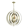 Dimond Lighting Synchrony Round Chandelier Gold Plate