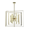Dimond Lighting Synchrony Square Chandelier Gold Plate