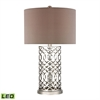 Laser Cut Metal LED Table Lamp in Polished Nickel