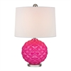 "Dimond 22"" Glass Accent Lamp in Hot Pink"