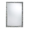 Island Falls Mirror In A Silver Mother Of Pearl Shell Finish.