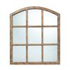 Sterling Union Wood Mirror In Faux Window Design N A Natural Oak Finish