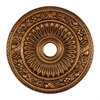 Floral Wreath 24-Inch Medallion In Antique Bronze