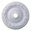Floral Wreath 24-Inch Medallion In White
