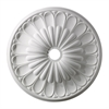 Melon Reed 32-Inch Medallion In White