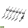 Tuxedo Swivel 6 Piece LED Undercabinet Light Set In Black