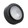 Zeepuk 1 Lamp Xenon Puk Light In Black With Frosted Glass