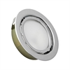 MiniPot Premium 1 Lamp Xenon Cabinet Light In Chrome And Frosted Glass