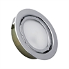 MiniPot Premium 1 Lamp Xenon Cabinet Light In Stainless Steel And Frosted Glass
