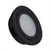 MiniPot Premium 1 Lamp Xenon Cabinet Light In Black And Frosted Glass