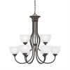Tahoe Chandelier Painted Bronze 9X60W
