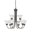 Bella Chandelier Oiled Bronze 9X60W 120