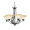 Prestige Chandelier Sable Bronze 6X100W