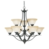 Prestige Chandelier Sable Bronze 9X60W