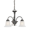 Riva Pendant Painted Bronze 3X100W 120V