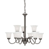 Riva Chandelier Painted Bronze 9X60W 120