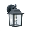 Hawthorne Wall Lantern Black 1X60W 120V