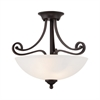 Haven Ceiling Lamp Espresso 2X60W 120V
