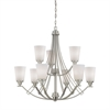 Wright Chandelier Matte Nickel 9X60W 120