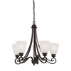 Haven Chandelier Espresso 5X100W 120V