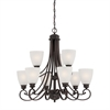 Haven Chandelier Espresso 9X60W 120V