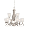 Haven Chandelier Satin Pewter 9X60W 120