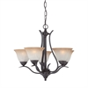 Prestige Chandelier Sable Bronze 5X100W