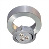 Tiro 3 Surface Mount Collar In Brushed Aluminum