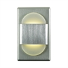 EZ Step LED Wall Light In Brushed Aluminum With White Opal Acrylic Diffuser
