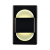 EZ Step LED Wall Light In Bronze With White Opal Acrylic Diffuser