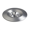 Disk LED Button Light In Brushed Aluminum