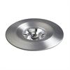 Disk LED Button Light In Brushed Aluminum