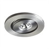 Saucer LED Button Light In Brushed Aluminum