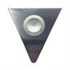 Polaris LED Puk Light In Brushed Aluminum With Triangular Aluminum Wedge