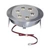 Tiro 6 Light LED Downlight In Brushed Aluminum
