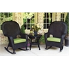 Tortuga Outdoor Lexington Rocker & Table Set ~ 2 rockers, 1 side table - Tortoise -   Rave Pine