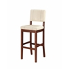 "Milano Bar Stool Cream, 18""W X 20""D X 45""H, Medium/Dark Walnut Finish"